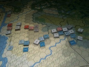 Advancing Union Forces Occupy Victory Hexes