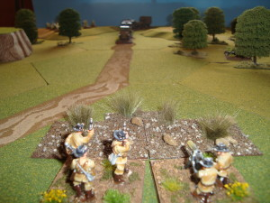 View From German Machine Gun Position As Convoy Approaches