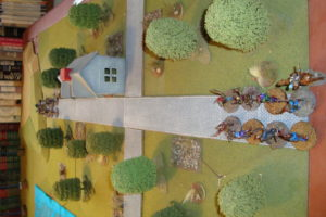 Unaware Of What Lies Ahead, Both Forces Advance Towards The Crossroads.  Blue in Foreground (South)